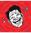 LOL Man Laughing Out Loud vector image