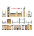london england and united kingdom building vector image