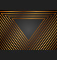luxury golden abstract triangles geometric vector image vector image