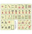 mahjong tiles vector image vector image