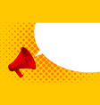 megaphone announce bubble message vector image vector image