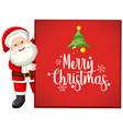 merry christmas santa card vector image vector image