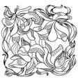 ornamental iris 3 vector image