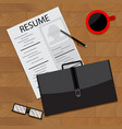 prepare for interview vector image vector image