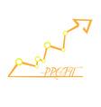 Profit business vector image