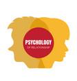 psychology family mental health or family rehab vector image