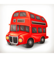 Red double deck bus vector image