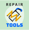 repair tools ruler saw icon creative graphic vector image vector image