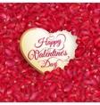 Rose petals heart EPS 10 vector image vector image