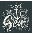Sea print T-shirts for summer vector image vector image