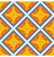 Seamless indian pattern with geometric ornate vector image vector image