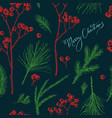 seamless pattern with colored rowan lettering vector image