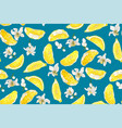 seamless pattern with lemon citrus slices and vector image