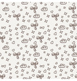 seamless pattern with magic clouds and bows vector image