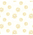 seamless pattern with suns vector image vector image