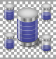 set batteries icon vector image