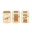Set of labels for seabuckthorn seed oil vector image vector image