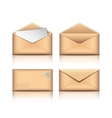 Set of Old envelopes vector image vector image