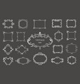 set of silver vintage floral frames and monograms vector image