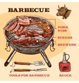 Sketch meat bbq infographic vector image vector image