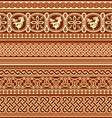 slavic ornament seamless vector image