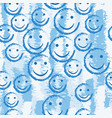 smile face seamless pattern background vector image