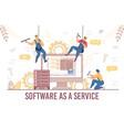 software service system development update test vector image vector image