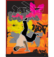 stylized breakdance illustration vector image vector image