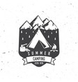summer camping badge vector image vector image
