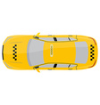 Taxi top view vector image vector image