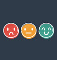 three buttons with happy vector image vector image