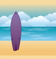 tropical beach summer scene vector image vector image