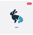 two color hare icon from animals concept isolated vector image vector image