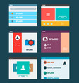 ui app design concept vector image