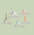 yoga health asanas set concept vector image
