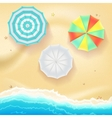 Summer travel background vector image