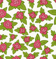 bright floral seamless pattern - flower with vector image