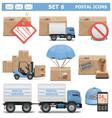 Postal Icons Set 6 vector image
