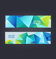 abstract polygonal mosaic geometric triangular vector image vector image