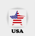 american flag star logo on a gray background vector image vector image