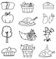 art of thanksgiving element doodles vector image vector image