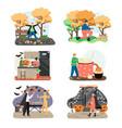 autumn season holidays and outdoor activities vector image