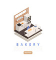 bakery confectionery isometric composition vector image vector image