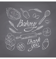Bakery sketched objects Hand drawn groceries vector image vector image