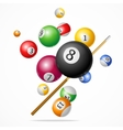 Billiard Ball Concept vector image
