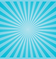 blue retro sunburst background vector image