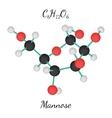 C6H12O6 Mannose molecule vector image vector image