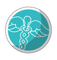 caduceus symbol isolated icon vector image vector image