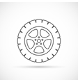 Car wheel outline icon vector image vector image