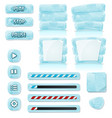 cartoon ice and glass icons for ui game vector image